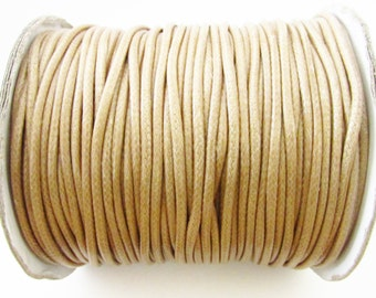 D-02741 - 3m Waxed Cotton Cord 2mm