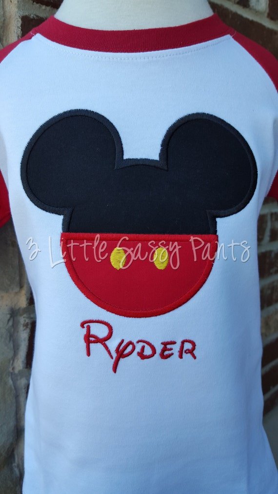 Mickey Mouse Raglan Shirt Mickey Mouse Raglan Shirt Applique