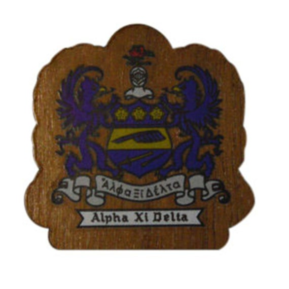 Alpha Xi Delta MINI Wood Crest For Paddles Mascot Boards