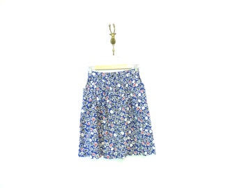 90s Vintage Short Abstract Print Esprit Drindl Skirt