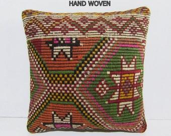 16x16 kilim pillow 16x16 throw pillow 16x16 decorative pillow 16x16 pillow cover 16x16 pillow case 16x16 cushion cover 16x16 pillows D2032