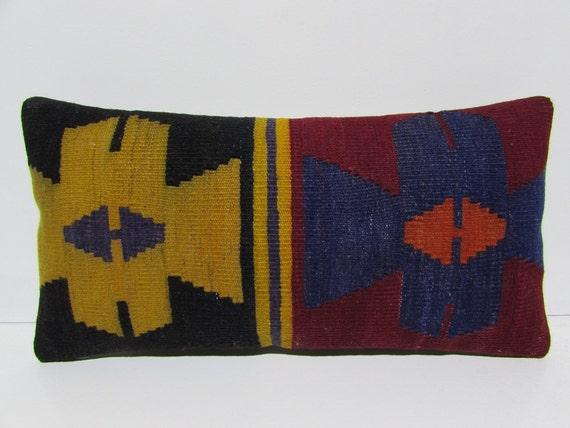 Modern Kilim Pillow : kilim lumbar pillow modern throw pillow turkish pillow case