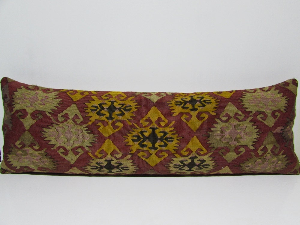 Decorative Pillow Sets For Bed : 16x48 king size pillow case kilim pillow throw pillows for bed