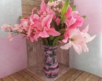 Flower Arrangement Centerpiece, Pink Flower Arrangement, Table Centerpiece, Pink Floral Arrangement, Pink Flowers