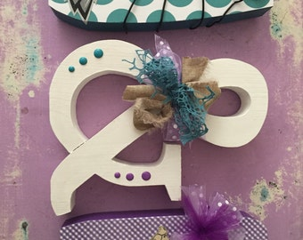 Custom wood letters. Wedding centerpiece. Custom wedding sign. Wedding letters. Bridal shower decor. Wood letters.