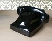 50s Dutch bakelite phone, vintage phone, retro phone, old phone, bakelite telephone, vintage telephone, rotary telephone, antique telephone