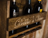 Wall-mounted Wine Rack, personalized gift for your favorite Wine Lover