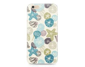 Seashells on the Beach iPhone 7, Nautical Phone Case, Summer Phone Case, Ocean Phone Case, iPhone, Samsung Galaxy S8
