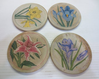 Coasterstone Flowers of Spring Coasters by Hindostone Products...Set of 4