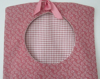 Laundry Peg Bag, Housewarming Gift, Pink Clothes Pin Bag, Mother's Day Gift, Gifts for the Home, Traditional Cotton Peg Bag, Wife Gift