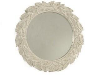 Fiorentina Round Mirror - Antique White
