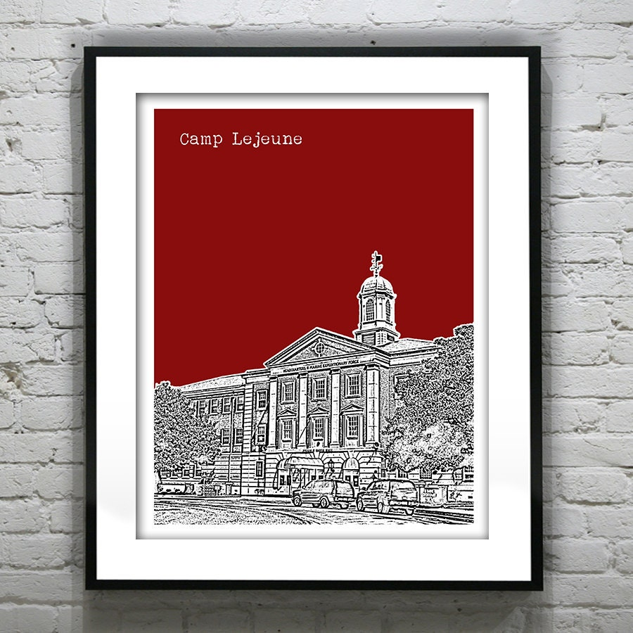 Presidents Day Sale 15 Off Camp Lejeune Skyline Poster