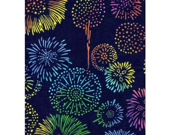 RIENZOME Cotton Tenugui Cloth with Patterns of Japanese Fireworks 834 (3002362)