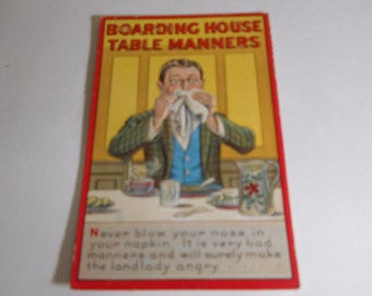 Boarding House Table Manners