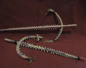 Papua New Guinea Tribal Sharks Tooth Weapons