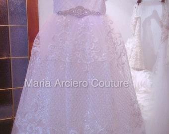 Baptism Dress, lace baptism dress, lace christening dress,communion dress-new collection