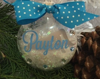 High Jumper Ornament, High Jump Girl, Track and Field Ornament, Personalized, Monogrammed
