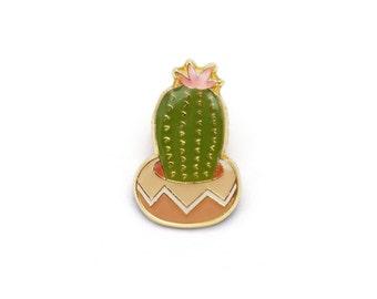 Flowering Cactus Enamel Pin