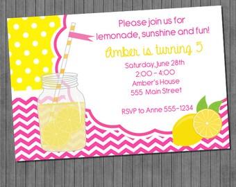 ON SALE!!  Sunshine lemonade Invitations