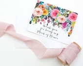 Thank you for being my maid of honor card / wedding stationary / maid of honor / will you be my maid of honor hand lettering