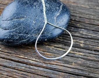 Simple Sterling Silver Teardrop Necklace