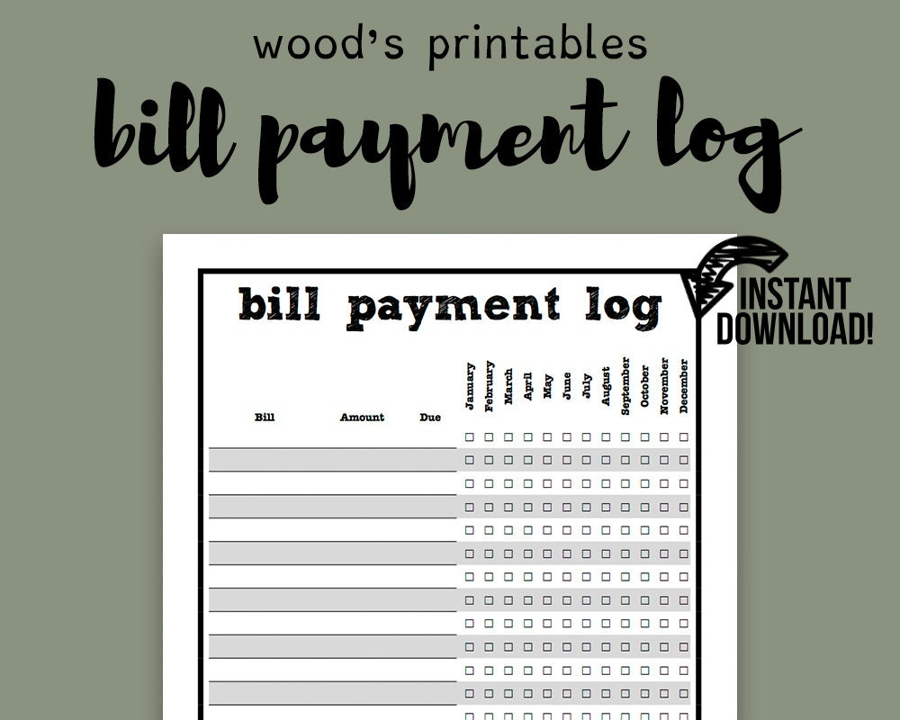 Best Photos of Cute Monthly Bill Organizer - Printable ...
