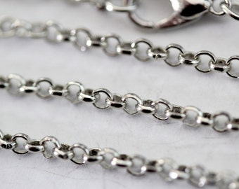 Antique Silver Rolo Chain Necklace Lot Wholesale Bulk