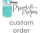 Custom Order For Amber