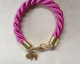 Buffao Cord Bracelet - Pink