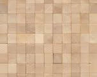 Blank Wooden scrabble tiles  x 10