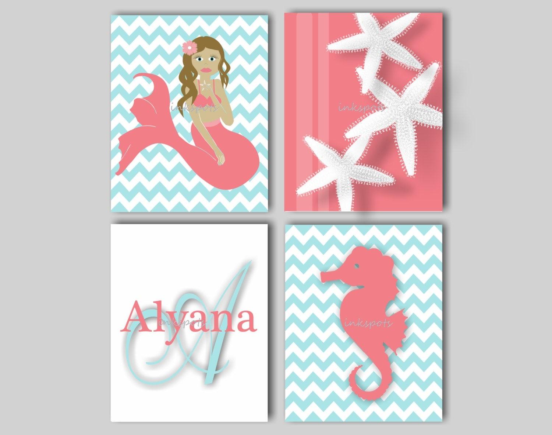 Girls Nautical Nursery: Baby Girl Nursery Art Nautical Nursery Print For Girls