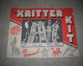 The KRITTER KIT 1945 Creative Manual Instructions Craft's