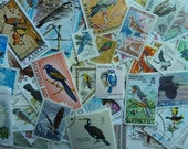 Birds -  Lot of 100 U.S. and Worldwide  Postage Stamps with Birds for Scrapbooking, Decoupage, Paper Crafts, Collage and More...