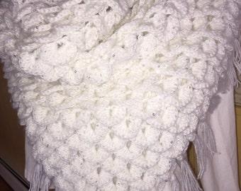 The crocodile scarf/shawl