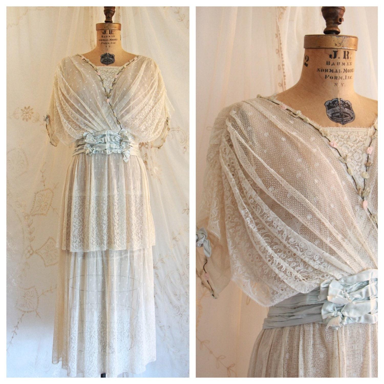 Vintage Victorian Wedding Dresses: Antique Dress /Edwardian Dress / Victorian / Bridal / Wedding