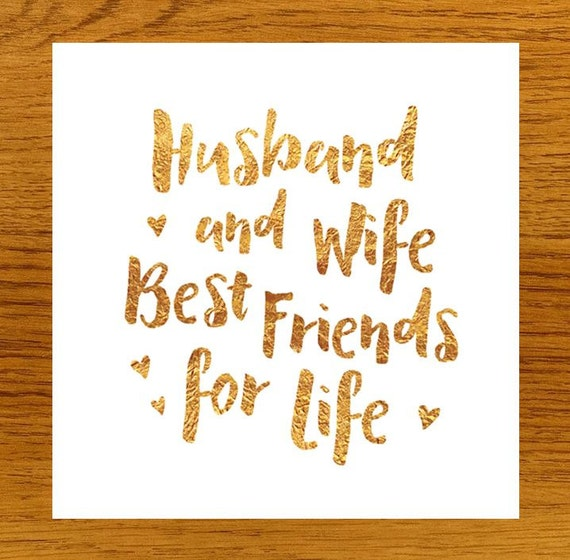 Best Husband And Wife: Husband And Wife Best Friends For Life By LittleMushroomCards