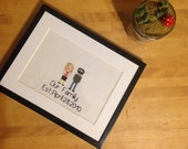 Cross Stitch Family Portrait Custom Order