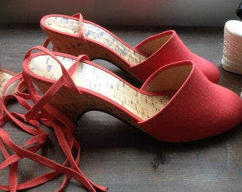 Petite Shoes, Italian, 35, Red Shoes, Wedges, Mules, Dress Shoes, Small