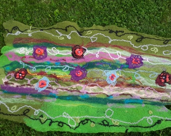 Felted Home Decor Wall hangings Felted table runner