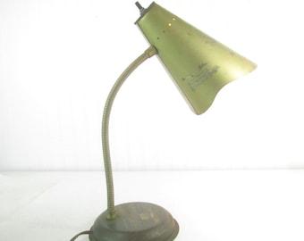 Vintage desk lamp, vintage light, metal light, Tole Desk lamp, Goose Neck desk lamp