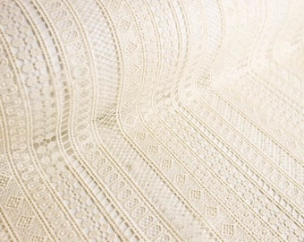 Natural Serena Poly Chemical Lace Fabric by the Yard - Style 663