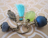 Assorted Handmade Gemstone Charms - Ready Made Jewelry Parts - Charmed I'm Sure - Sea Side Colors