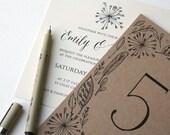 Vintage Blossom Wedding Stationery - classic, elegant, rustic, hand drawn, modern, invitation