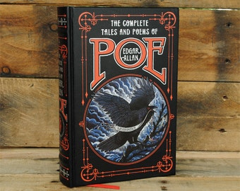 Book Safe - The Complete Poems of Edgar Allen Poe - Leather Bound Hollow Book Safe