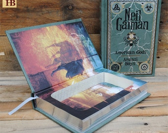 Book Safe - American Gods - Leather Bound Hollow Book Safe