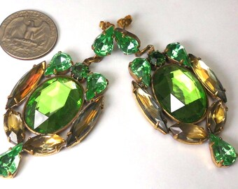 Rhinestone earrings-studs, Design and made Kutz-Cz