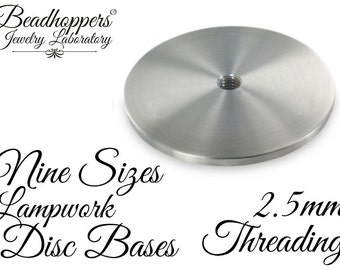 Lampwork Cabochon Disc Bases with 2.5mm treadings in all 9 SIzes