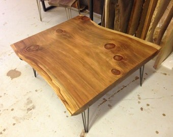 Live Edge Coffee Table Live Edge Table Redwood Coffee Table Wood Coffee Table