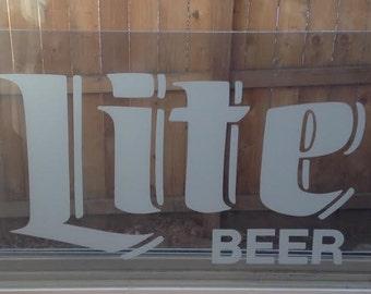Vintage Lite Beer Arcylic Sign