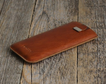 ENGRAVED Your Name Brown HTC One X10 X9 E8 Desire Pro Lifestyle Bolt 825 Case Leather Sleeve Cover Handmade